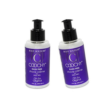 Coochy Water Based After Shave Skin Protection OH SO ORIGINAL (Safe for All Body Parts Including Face and Intimate Areas) - Size 4 Oz (Pack of 2)