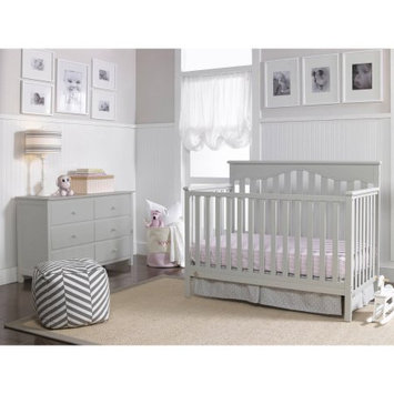Bivona & Company, Llc Fisher-Price Ayden 4-in-1 Fixed-Side Convertible Crib, Misty Grey