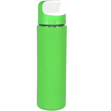 Gourmet Home Products 18 Oz Glass Sports Bottle with Silicone Body and Two-Tone Lid