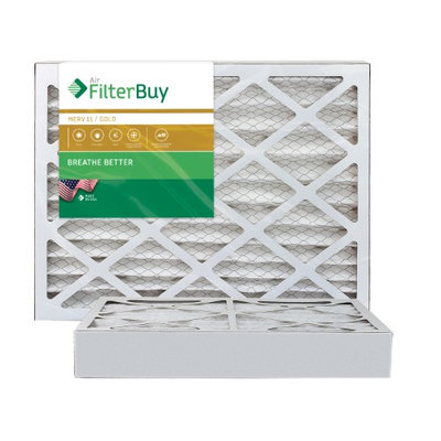 AFB Gold MERV 11 18x20x4 Pleated AC Furnace Air Filter. Filters. 100% produced in the USA. (Pack of 2)