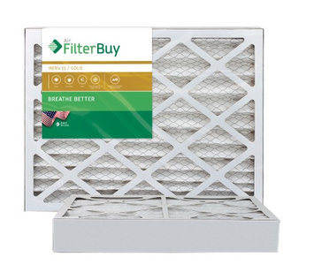 AFB Gold MERV 11 17x25x4 Pleated AC Furnace Air Filter. Filters. 100% produced in the USA. (Pack of 2)