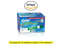 Expo Low Odor Chisel Tip Dry Erase Markers, 12 Red Markers (80002) Case of 12 Packs