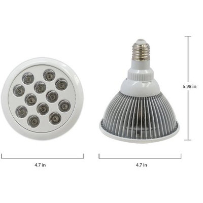 LED Concepts Grow light Bulb, Plant Light for Hydropoics Greenhouse Organic ( E27 12w 3 Bands)