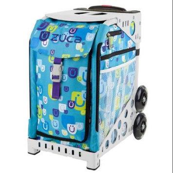 Zuca Be Zappy Insert Bag (Aqua with Zuca logo) with White Sport Frame