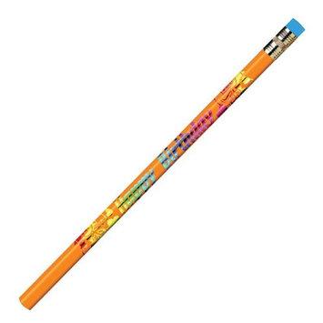 J.R. Moon Pencil JRM7904BBN Happy Birthday Pencils - 12 Dozen