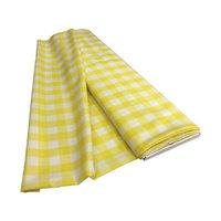 LA Linen CheckBolt-5Yrd-LghtYellowK99 5 Yards Gingham Checkered Flat Fold White & Light Yellow