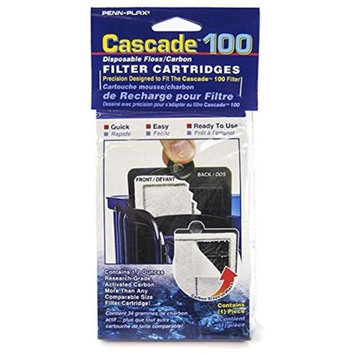 Cascade 100 Power Filter Disposable Floss/Carbon Filter Cartridges: 1