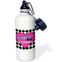 3dRose Worlds Best Grandma, Sports Water Bottle, 21oz