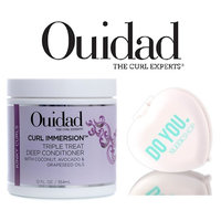 Ouidad CURL IMMERSION Triple Treat Deep Conditioner (with Sleek Compact Mirror)