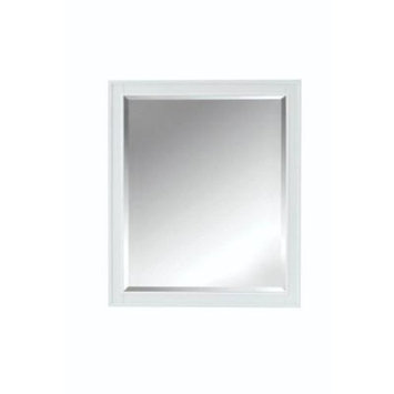 Home Decorators Collection Manor Grove 33 in. L x 28 in. W Framed Wall Mirror in White