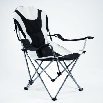 Ming's Mark Inc. Ming's Mark 36028 Foldable Reclining Camp Chair - Black / Gray