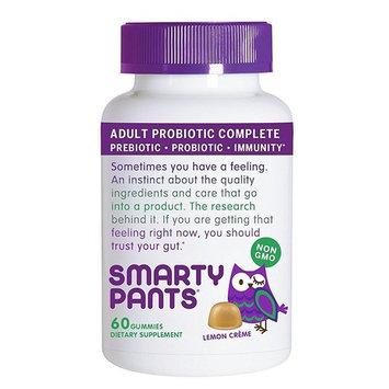 Smarty Pants Gummy - Adult Probiotic - Lemon - 60 ct (Pack of 4)