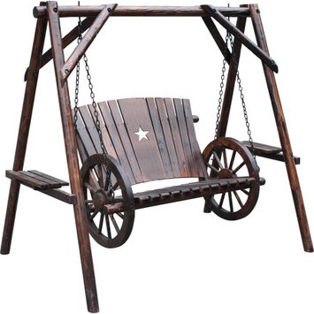 United General Supply Co., Inc Wagon Wheel Swing With A-Frame