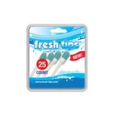 Fresh-Tips Peppermint [25 Pack] | In Just 60 Seconds Fresh Breath & Whiter Teeth While On The Go