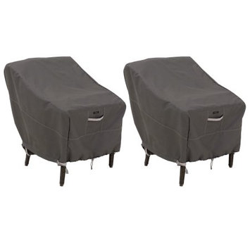 Classic Car Accessories Classic Accessories Ravenna Standard Dining Patio Chair Cover - Premium Outdoor Furniture Cover with Durable and Water Resistant Fabric, 2-Pack