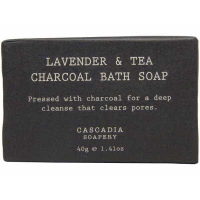 Cascadia Soapery Lavender & Tea Charcoal Bath Soap lot of Total of 4.23oz (Pack of 3)