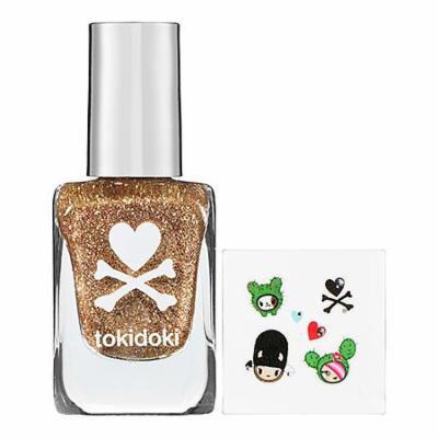 tokidoki Nail Confetti & Nail Art Stickers Savana 0.4 oz Nail Confetti Polish; 6 Nail Art Stickers