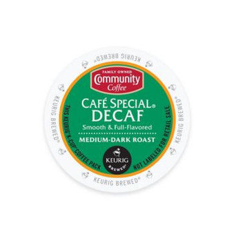 Community Coffee Cafe Special Decaf Medium-Dark Roast Coffee K-Cup Pods, .38 oz, 18 count