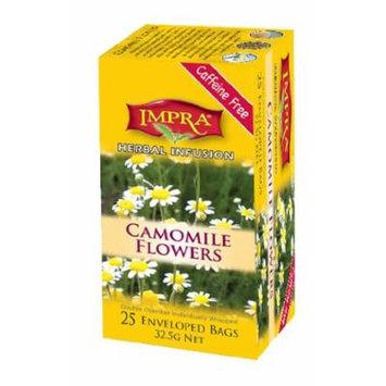 Impra Camomile Flowers Herbal Infusion Tea, 25-Count Tea Bags (Pack of 6)