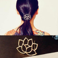 2017 Hairpins! AMA(TM) Women Lotus Retro Styling Hairpin Hair Clips Headdress Flower Hair Accessories (G
