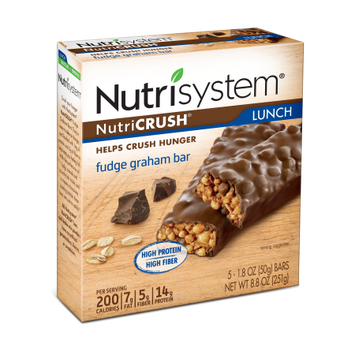 Nutrisystem Nutricrush Fudge Graham Bars, 1.8 oz Bar, 30 Count