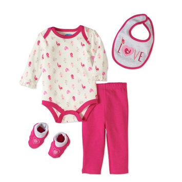 Bon Bebe Baby Girls' 4-Piece Outfit - off white/multi, 3 - 6 months