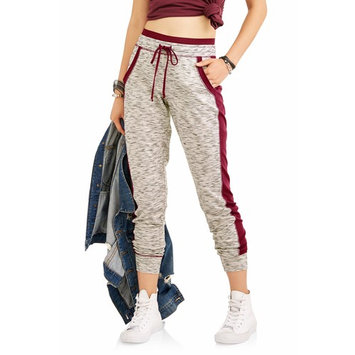 No Boundaries Juniors' Side Stripe Joggers w/ Cell Phone Pocket