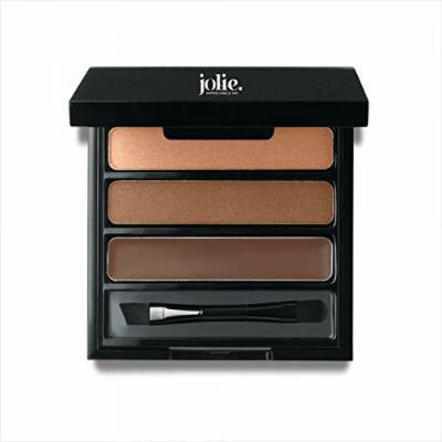 Jolie Eye Brow Shaper Kit Medium ~ Pressed Powder & Tinted Wax + Takelon Brush
