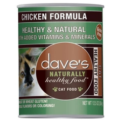 Dave's Pet Food Dave's Naturally Healthy Chicken Formula Canned Cat Food 12 count, 12.5 oz