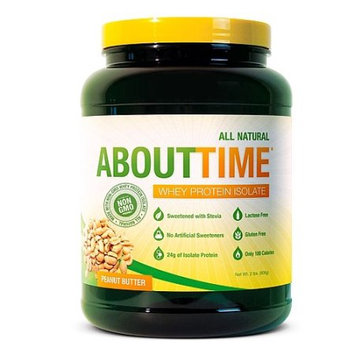 About Time Whey Protein Isolate Peanut Butter - 2 lbs