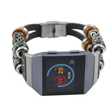Fitbit Ionic Wristband,AutumnFall 1PC New Replacement Leather Watch Band Strap Bracelet For Fitbit Ionic