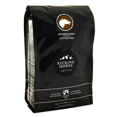 Kicking Horse Coffee, 454 Horse Power, Dark Roast, Whole Bean, 2.2 Pound [454 Horse Power]
