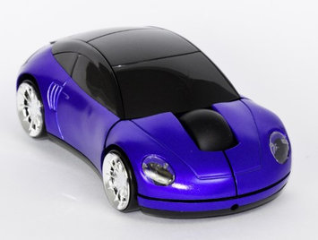 SoundLogic XT Wireless Optical Light Up Car Mouse with USB Receiver Blue