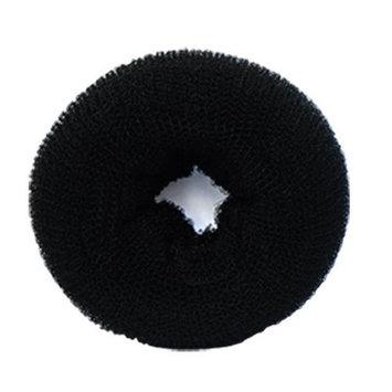 SaveGoodBuy 1PCS Hair Donut Mesh Chignon (Black Color--Large Size)