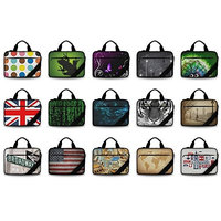 Silent Monsters Laptop bag case 15.6 inch made of Canvas with mousepad, Design: USA