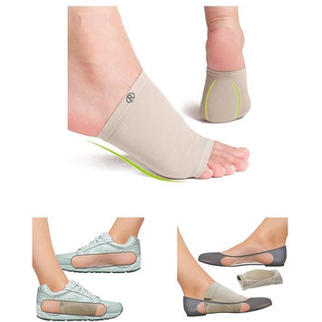 Gel Cushioned Orthotic Arch Support Sleeve Pair by JERN for Plantar Fasciitis, Flat Feet Pain, Heel Spurs, Heel Neuromas, Relief from Hip Feet and Back Problems (1 Pair for Men and Women)