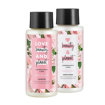 Love Beauty And Planet Blooming Color Shampoo and Conditioner, Murumuru Butter, Sugar & Rose, 13.5 oz, 2 ct [Murumuru Butter, Sugar & Rose SH + CD]