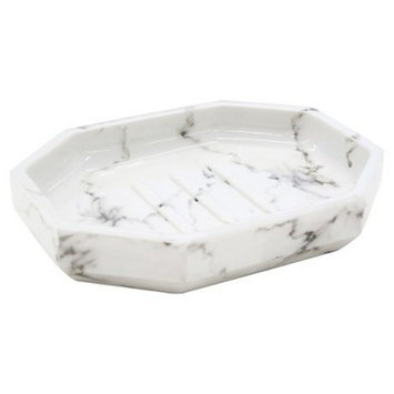Facet Soap Dish Marble - Allure Home®