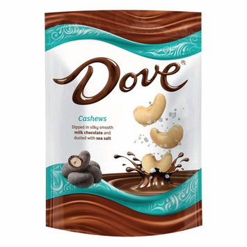 Dove Cashews With Sea Salt and Milk Chocolate Candy Bag, 5.0 Oz