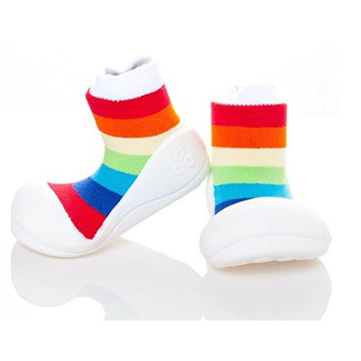 Attipas Rainbow White baby First Walker shoes - Toddler shoes slippers Size - 9