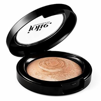 Jolie Marbleized Baked Finishing Powder Bronzer, Highlighter (Satin Glow)