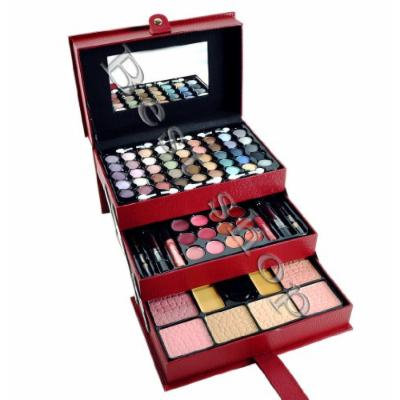 Lady De 65Color 3 Tray Eye Shadow Professional Leather Train Case Make-Up Kit Set (BY CAMEO)