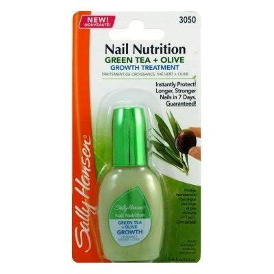 Sally Hansen Nail Nutrition Green Tea and Olive Leaf Nail Growth, 0.45 Fluid Ounce, 2 Ea