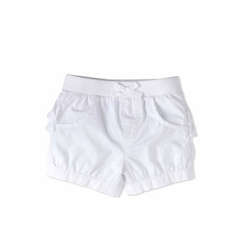 Baby Girls' Solid Ruffle Back Shorts