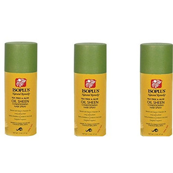 [PACK OF 3] ISOPLUS NATURAL REMEDY TEA TREE & ALOE SHEEN CONDITIONING SPRAY 2oz : Beauty