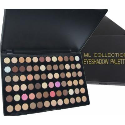 Ml Collection NEW!!! Get All in One 72 Colors Eye Shadow Palette Nude Warm Neutral + FREE 5 Piece Mini Goat Brush Set.