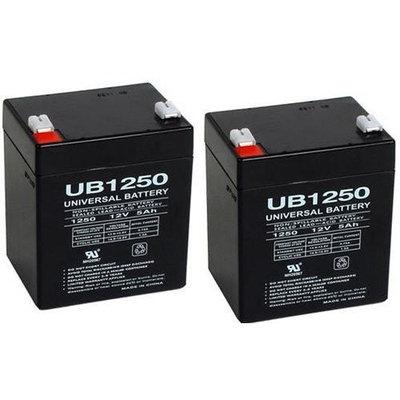 Universal Power Group D5741 SLA Battery 12V-5AH - 2 Pack