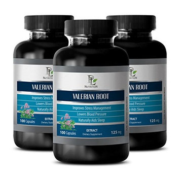 Nerve help - VALERIAN ROOT EXTRACT 125 MG - Valerian root powder - 3 Bottle 300 Capsules