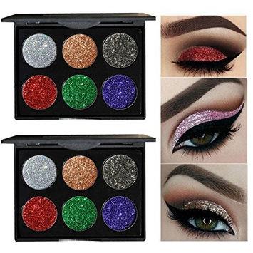 Fashion Matte Eyeshadow Cosmetic Makeup Shimmer Glitter Eye Shadow Powder Palette Saingace