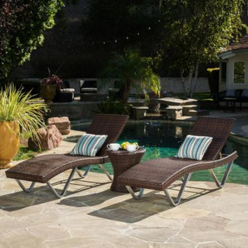 Nfusion Ojai Multibrown 3-Piece Chaise Lounge Chair And Table